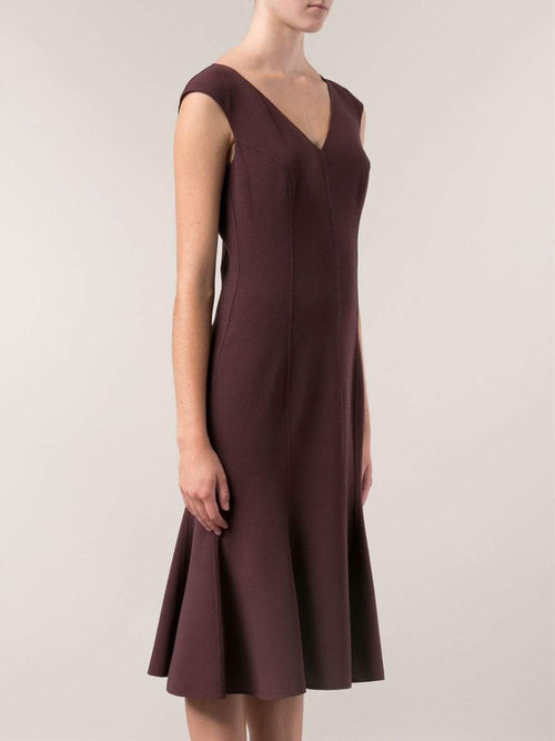 MICHAEL KORS COLLECTION CLOTHINGDRESSCASUAL V-Neck Fitted Dress