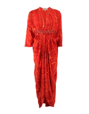 MICHAEL KORS COLLECTION CLOTHINGDRESSEVENING CORAL / 10 Plunge Neck Jewel Caftan