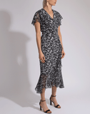 MICHAEL KORS COLLECTION CLOTHINGDRESSMISC Draped Wrap Belted Dress