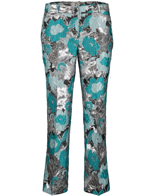 MICHAEL KORS COLLECTION CLOTHINGPANTCROPPED Floral Brocade Cropped Trouser