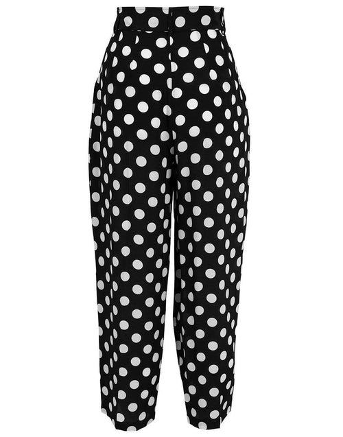 MICHAEL KORS COLLECTION CLOTHINGPANTCROPPED Polka Dot Pleated Trouser