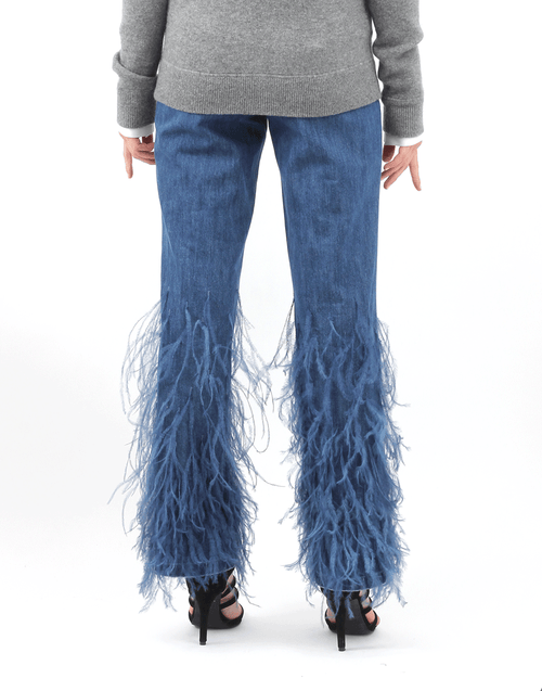 MICHAEL KORS COLLECTION CLOTHINGPANTDENIM Ostrich Flare Jean