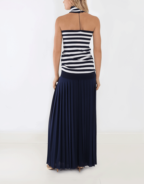 MICHAEL KORS COLLECTION CLOTHINGSKIRTMAXI Slashed Pleated Long Skirt