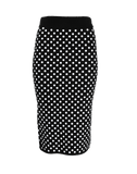 MICHAEL KORS COLLECTION CLOTHINGSKIRTMISC Embroidered Polka Dot Knit Skirt