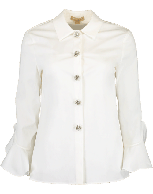 MICHAEL KORS COLLECTION CLOTHINGTOPBLOUSE Jeweled Button Down Shirt