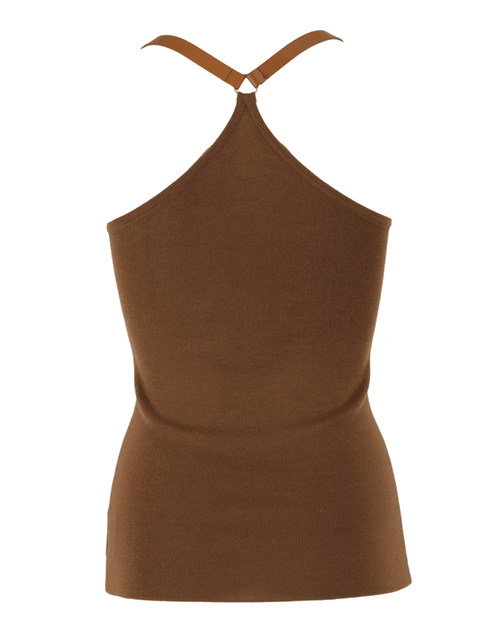MICHAEL KORS COLLECTION CLOTHINGTOPBLOUSE Leather Strap Halter Tank