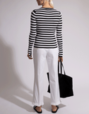 MICHAEL KORS COLLECTION CLOTHINGTOPKNITS Slit Sleeve Striped Top
