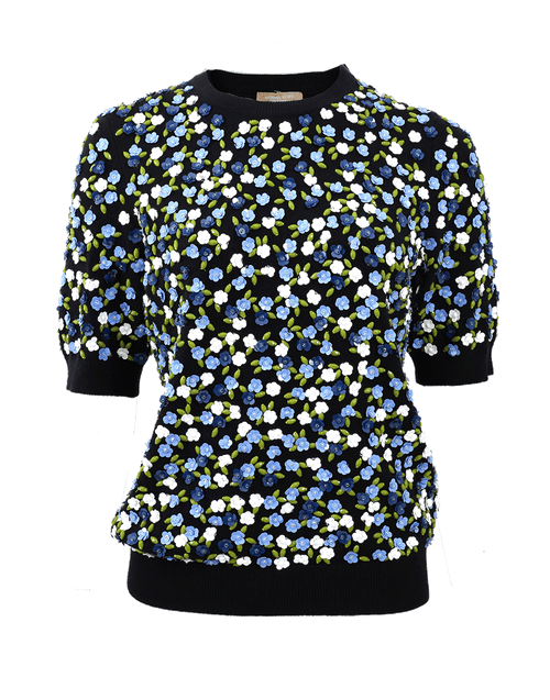 MICHAEL KORS COLLECTION CLOTHINGTOPMISC Floral Garden Crewneck