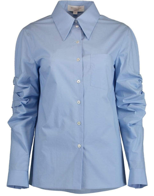 MICHAEL KORS COLLECTION CLOTHINGTOPMISC Ruched Sleeve Button Down Shirt