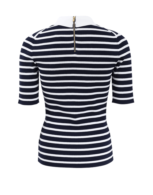 MICHAEL KORS COLLECTION CLOTHINGTOPMISC Striped Polo Top