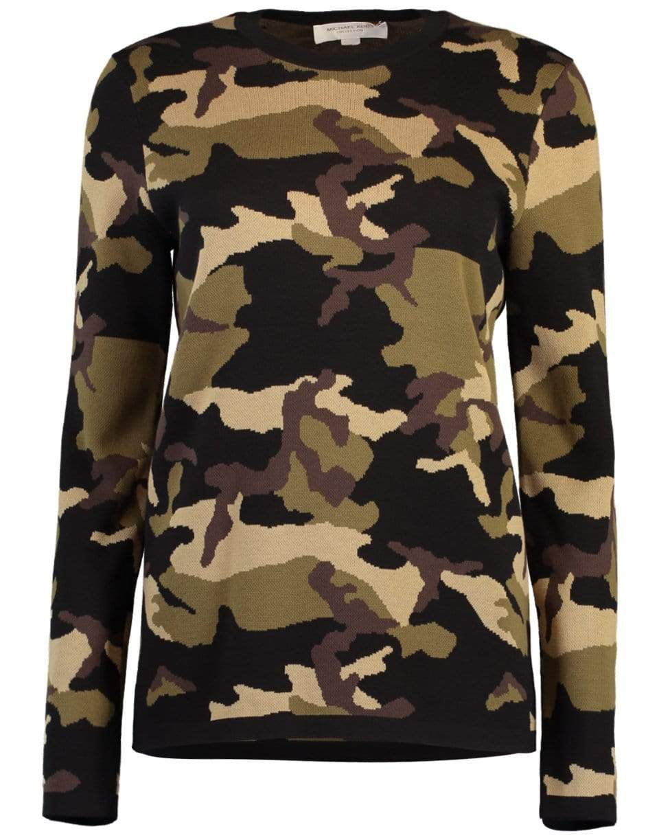 Image of Camo Pullover Top