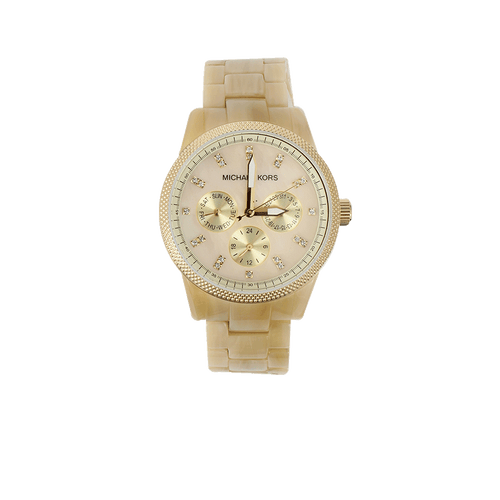 MICHAEL KORS WATCH ACCESSORIEWATCHES HORN/GLD Horn And Mop Chronograph Watch