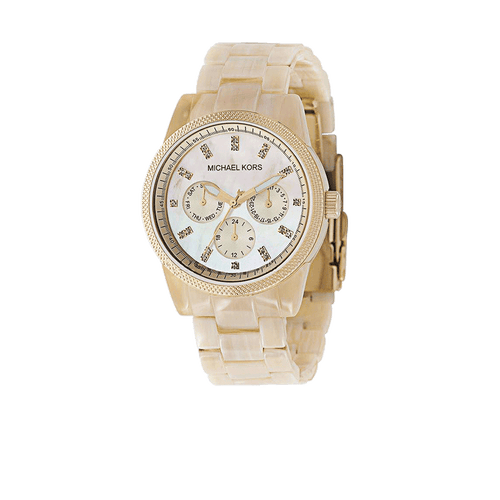 MICHAEL KORS WATCH ACCESSORIEWATCHES HORN/GLD Horn Chronograph Bracelet Watch
