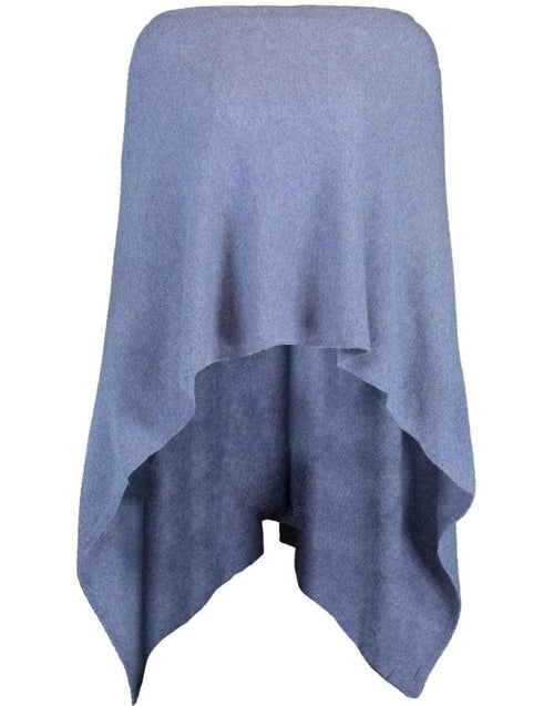 MINNIE ROSE CLOTHINGMISC DNMBLUE Denim Blue Ruana Cashmere Poncho