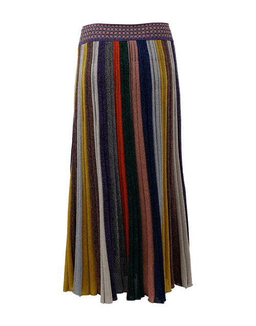 MISSONI CLOTHINGSKIRTKNEE LENGT STRIPE / 46 Mid Length Lamé Skirt