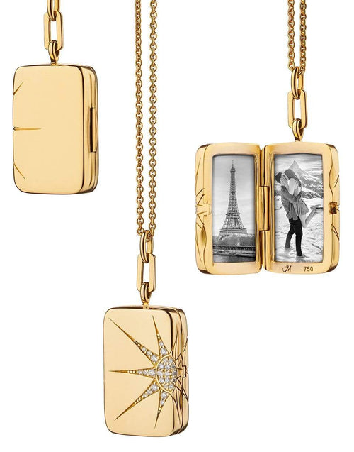 MONICA RICH KOSANN JEWELRYFINE JEWELNECKLACE O Rectangular Locket with Diamonds