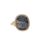 MONIQUE PEAN JEWELRYFINE JEWELRING YLWGOLD / 6.75 Blue Fossilized Woolly Mammoth Ring