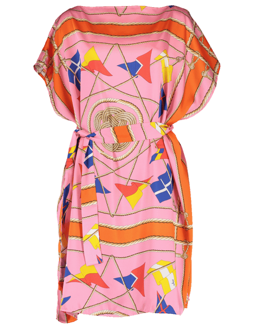 MSGM CLOTHINGDRESSCASUAL Nautical Print Caftan Dress
