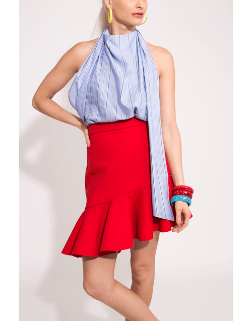 MSGM CLOTHINGSKIRTMISC Asymmetrical Ruffle Skirt