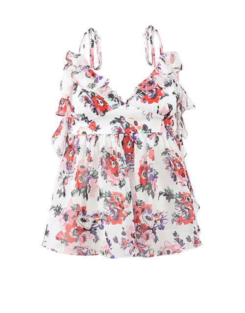 MSGM CLOTHINGTOPMISC Floral Babydoll Top