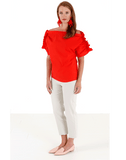 MSGM CLOTHINGTOPMISC Off Shoulder Ruffle Sleeve Blouse