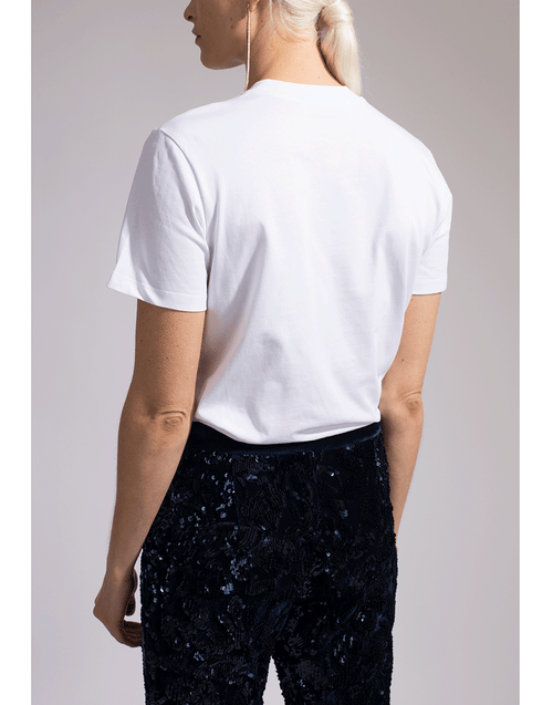 MSGM CLOTHINGTOPT-SHIRT MSGM On Front Tee