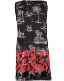 N0.21 CLOTHINGDRESSCASUAL Red Beaded Bottom Print Shift Dress