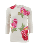 NAEEM KHAN CLOTHINGTOPSWEATER Floral Applique Cashmere Sweater