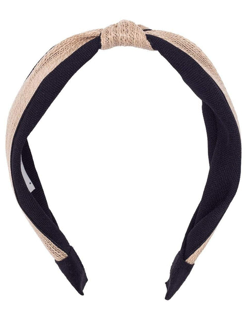 NAHMU ACCESSORIEMISC BLK/GLD Black and Gold Top Knot Headband
