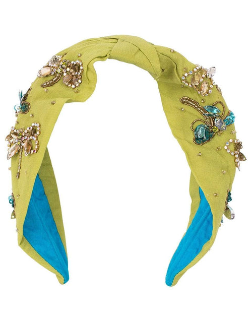 NAMJOSH ACCESSORIEMISC GREEN Dragonfly Embroidered Headband