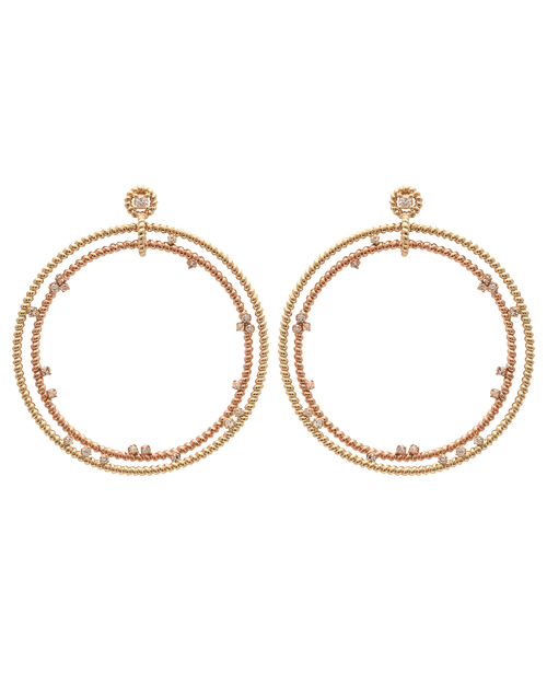 NANCY NEWBERG JEWELRYFINE JEWELEARRING YLWGOLD Double Floating Diamond Hoop Earrings