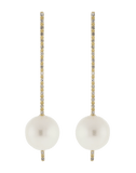 NANCY NEWBERG JEWELRYFINE JEWELEARRING YLWGOLD Pearl And Diamond Stick Earrings