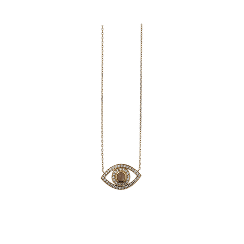 NETALI NISSIM JEWELRYFINE JEWELNECKLACE O YLWGOLD Diamond And Moonstone Big Eye Pendant Necklace