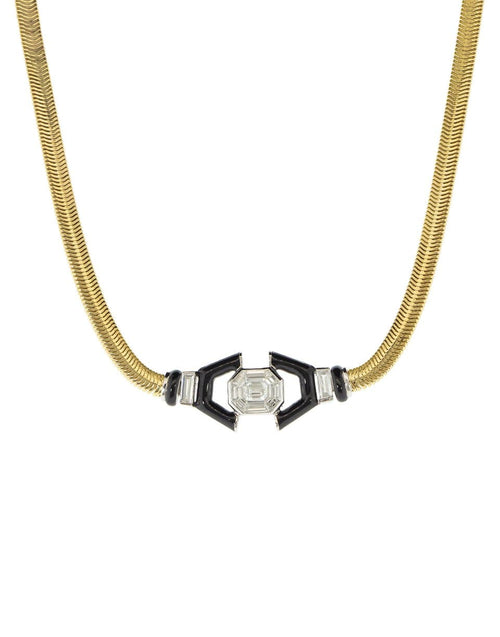 NIKOS KOULIS JEWELRYFINE JEWELNECKLACE O YLWGOLD Diamond and Black Enamel Necklace