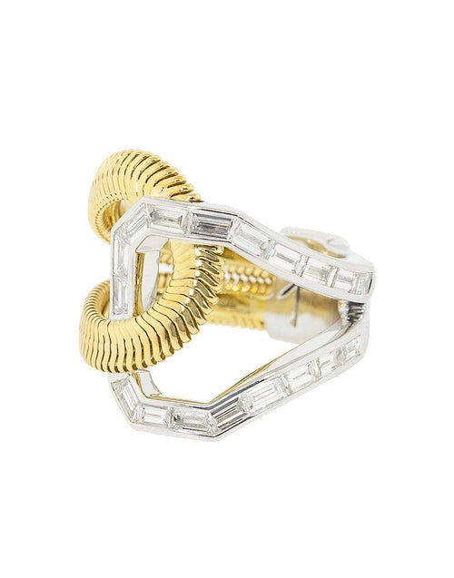 NIKOS KOULIS JEWELRYFINE JEWELRING YLWGOLD / 7 Double Diamond Loop Ring