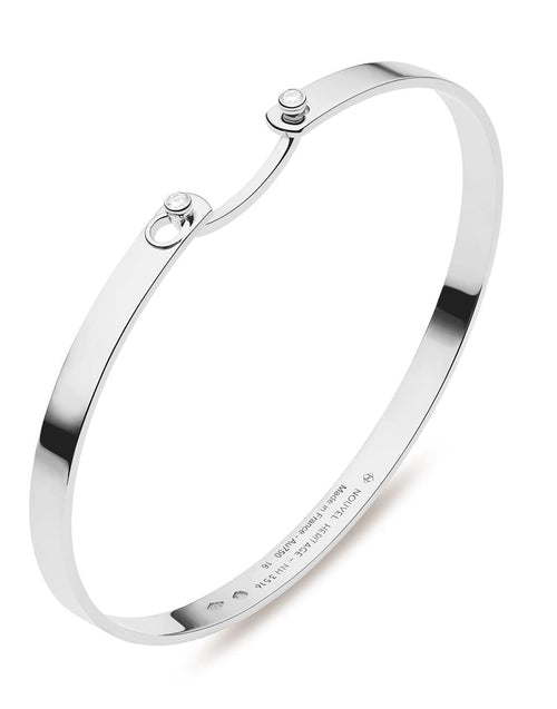 NOUVEL HERITAGE JEWELRYFINE JEWELBRACELET O WHTGOLD White Gold Diamond Monday Morning Mood Bangle