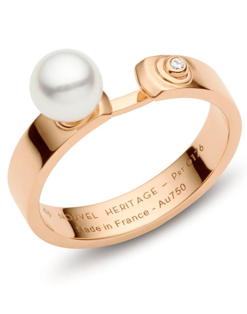 NOUVEL HERITAGE JEWELRYFINE JEWELRING ROSEGOLD / 6.5 Lunch with Mom Mood Ring