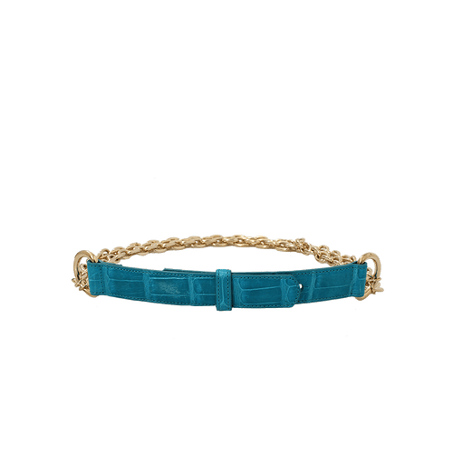 OSCAR DE LA RENTA ACCESSORIEBELTS Alligator Chain Belt