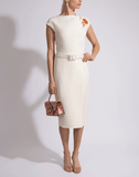 OSCAR DE LA RENTA CLOTHINGDRESSCASUAL Asymmetrical Overlay Dress