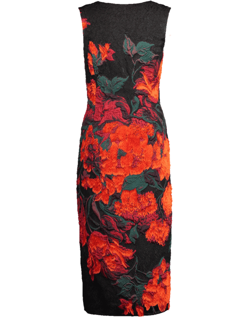 OSCAR DE LA RENTA CLOTHINGDRESSCASUAL Floral Print Cocktail Dress