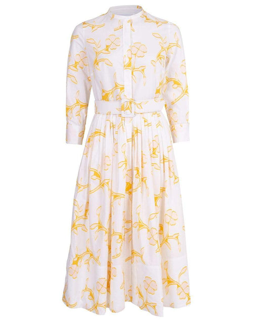 OSCAR DE LA RENTA CLOTHINGDRESSCASUAL Floral Print Cotton Shirt Dress