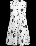 OSCAR DE LA RENTA CLOTHINGDRESSCASUAL Ivory Floral Print Swing Dress