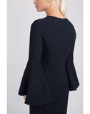 OSCAR DE LA RENTA CLOTHINGDRESSCASUAL Shimmer Wool Pencil Dress