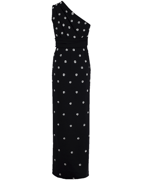 OSCAR DE LA RENTA CLOTHINGDRESSGOWN BLK/SLVR / 6 Polka Dot Sequin Gown