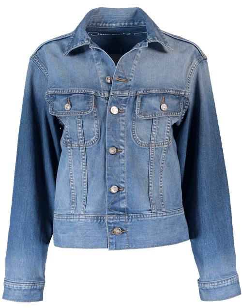 OSCAR DE LA RENTA CLOTHINGJACKETCASUAL Oversized Embellished Jean Jacket