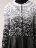 OSCAR DE LA RENTA CLOTHINGJACKETEVENING Jewel Neck Tweed Cardigan