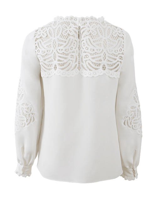 OSCAR DE LA RENTA CLOTHINGTOPBLOUSE IVORY / 4 Lace Blouse