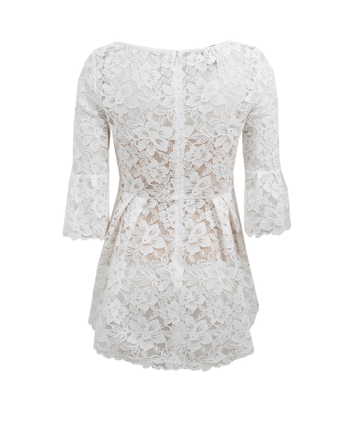 OSCAR DE LA RENTA CLOTHINGTOPBLOUSE Lace High Low Top