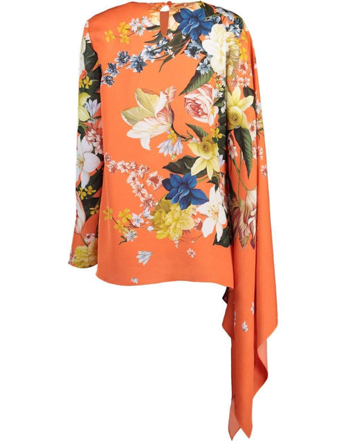 OSCAR DE LA RENTA CLOTHINGTOPBLOUSE Silk Twill Printed Blouse