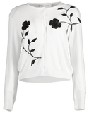 OSCAR DE LA RENTA CLOTHINGTOPCARDIGAN Cropped Embroidered Cardigan